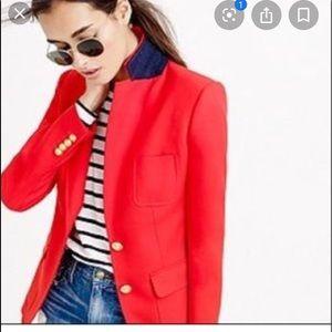 J crew red rhodes linen blazer